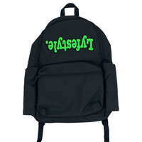 Green & Black Lyfestyle Tape Bookbag