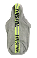 "Neon Green Lyfestyle Tape ""Construction Zone"" Dog Hoody"