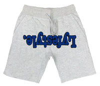 Royal Blue w/ Black Lyfestyle Across Shorts