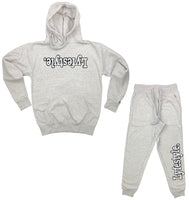 White w/ Black Lyfestyle Sweatsuits