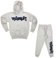 Navy Blue w/ Flint Grey Lyfestyle Sweatsuits