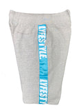 Sky Blue & White Lyfestyle Tape Short