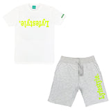 Neon Green 3M Lyfestyle Short Sets
