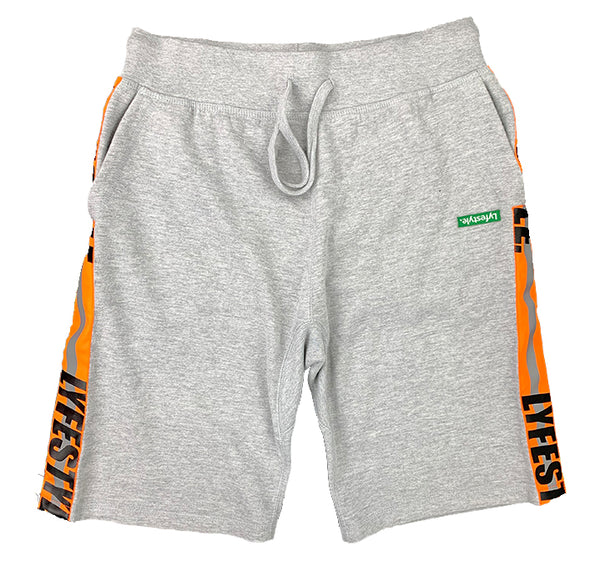 "Neon Orange Lyfestyle ""Construction Zone"" Shorts"
