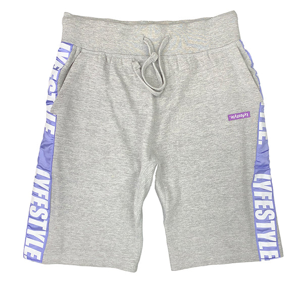 Purple & White Lyfestyle Tape Short
