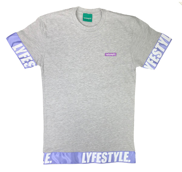 Purple & White Lyfestyle Tape Tee