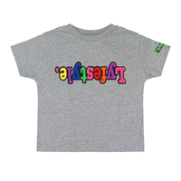 Toddlers Grey Starburst Lyfestyle Tee