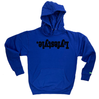 Black with Blue Lyfestyle Hoodies