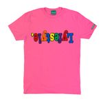 Hot Pink Multicolor Lyfestyle Tee