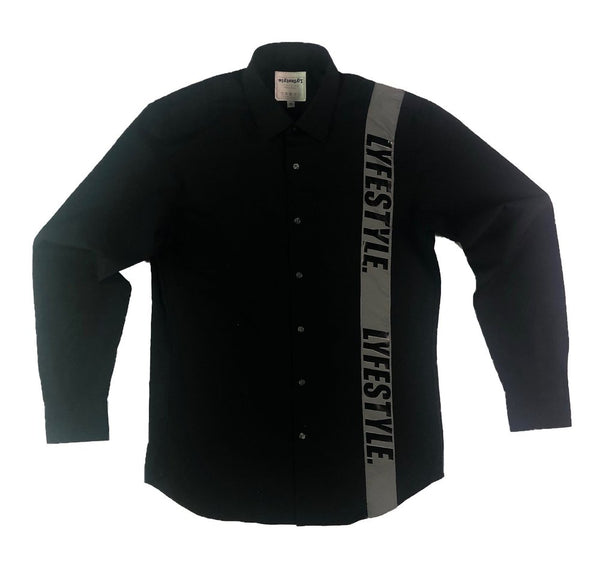 Lyfestyle 3M Striped Button-Up Shirt
