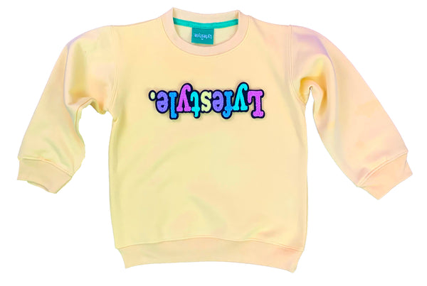 Toddlers Yellow Pastel Lyfestyle Sweatshirt