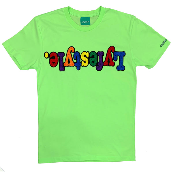 Lime Green Multicolor Lyfestyle Tee