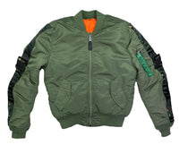 Olive Green & Camo Lyfestyle Tape MA-1 Bomber