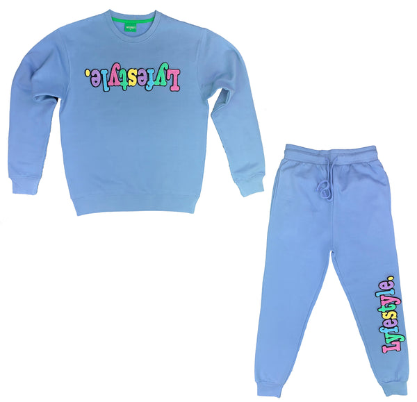 Kids Carolina Blue Pastel Lyfestyle Sweatsuit