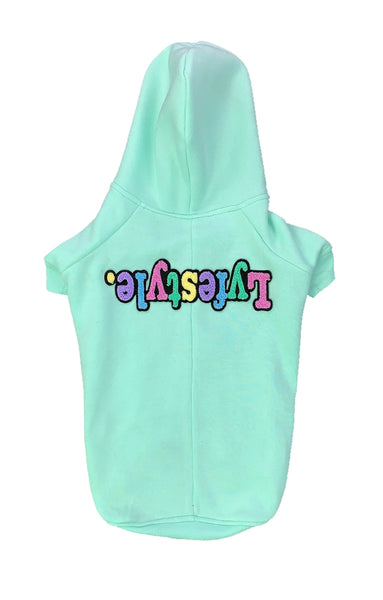 Mint Green Pastel Lyfestyle Dog Hoody