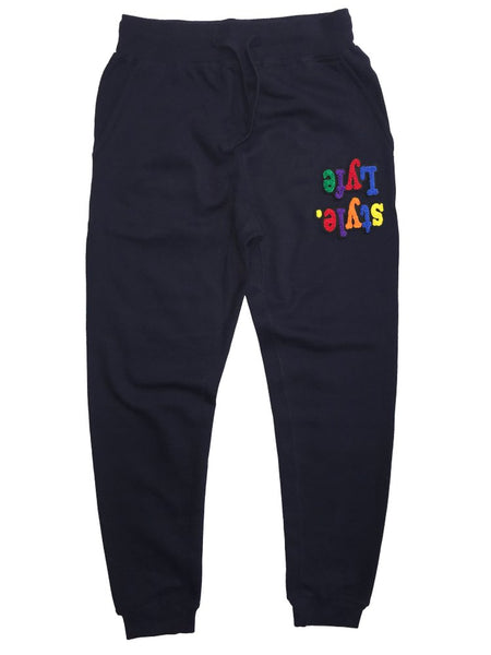 Navy Blue Multicolor Lyfestyle Sweatpants