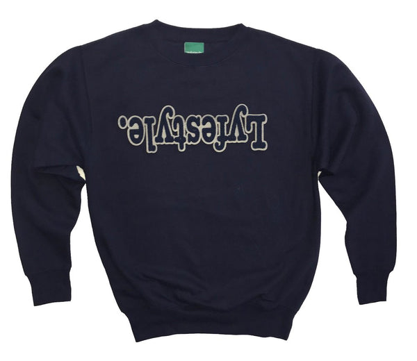 Navy Blue w/ Grey Lyfestyle Sweatshirt
