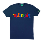Navy Blue Multicolor Lyfestyle Tee