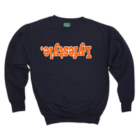 Orange w/ White Lyfestyle Sweatshirt