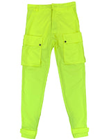 Neon Green Nylon 10-PF Cargo Pants