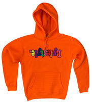 Neon Orange Lyfestyle Hoodies