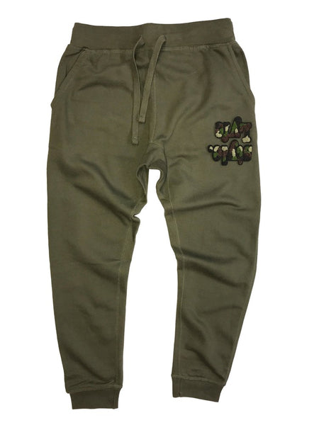 Olive Green Camo Lyfestyle Sweatpants
