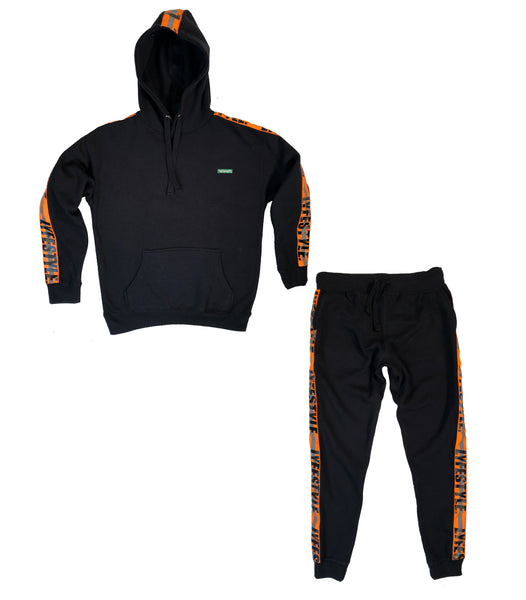 Neon Orange Construction Zone Sweatsuit
