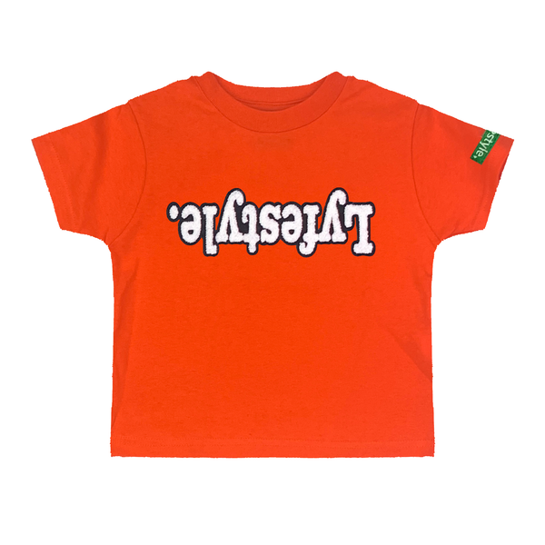 Toddlers Orange White w/ Black Lyfestyle Tee