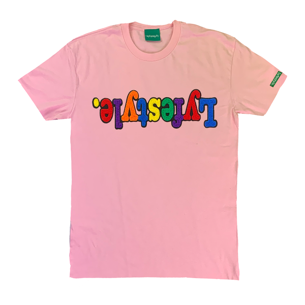 Pale Pink Multicolor Lyfestyle Tee