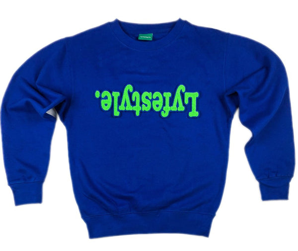Green w/ Blue Lyfestyle Sweatshirt