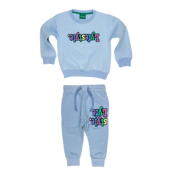 Kid's Ice Blue Pastel Sweatsuits