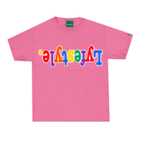 Kids WhiteMulticolor Lyfestyle Tees