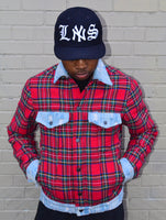 Plaid & Denim Lumber Jacket