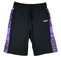 Black & Purple Lyfestyle Tape Short