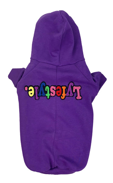 Purple Starburst Lyfestyle Dog Hoody