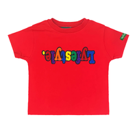 Toddlers Red Multicolor Lyfestyle Tee