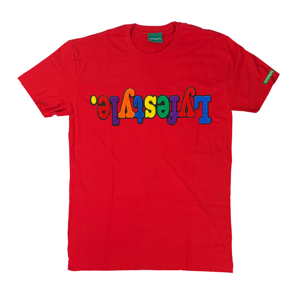 Red Multicolor Lyfestyle Tee