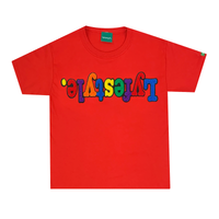 Kids Red Multicolor Lyfestyle Tee
