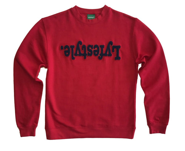 Navy w/ Red Lyfestyle Crewneck