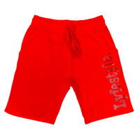Red Metallic Lyfestyle Shorts