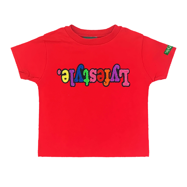 Toddlers Red Starburst Lyfestyle Tee