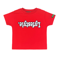 Toddlers Red White w/ Black Lyfestyle Tee