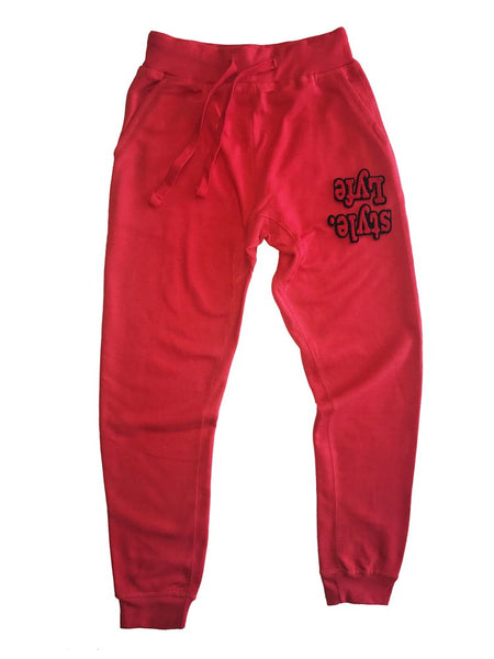 Red W| Black Lyfestyle Sweatpants