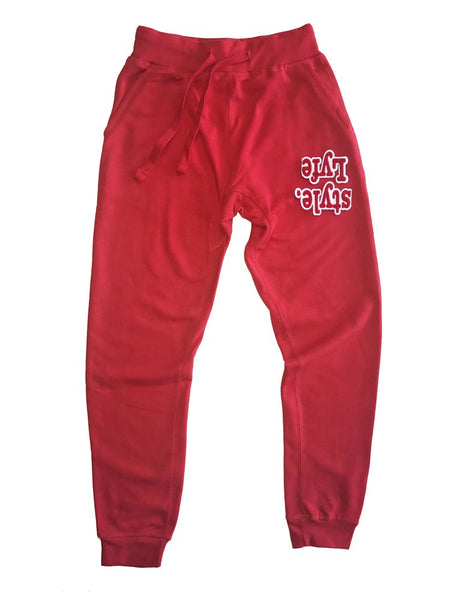 Red W| White Lyfestyle Sweatpants