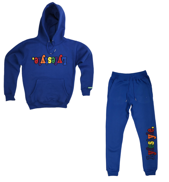 Royal Blue Multicolor Lyfestyle Sweatsuit