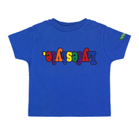 Toddlers Royal Blue Multicolor Lyfestyle Tee