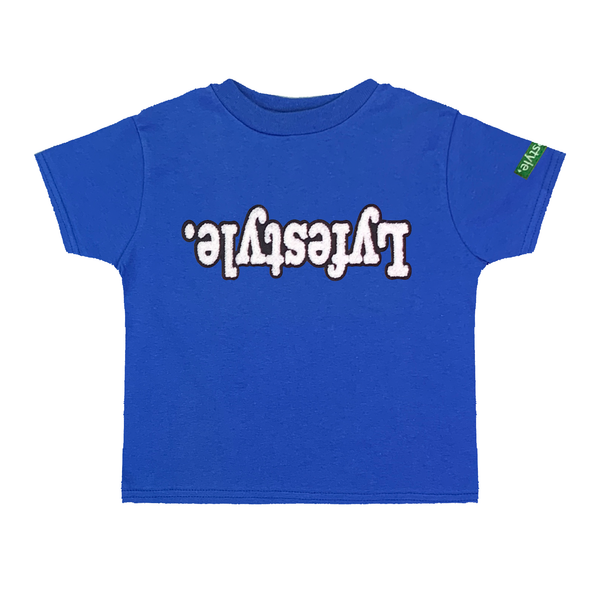 Toddlers Royal Blue White w/ Black Lyfestyle Tee