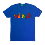 Royal Blue Multicolor Lyfestyle Tee