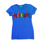 Womens Royal Blue Multicolor Lyfestyle Tee