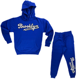 White w/ Black Brooklyn Lyfestyle Sweatsuit